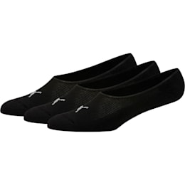 Calcetines tobilleras invisibles para hombre [paquete de 3], negro, pequeño